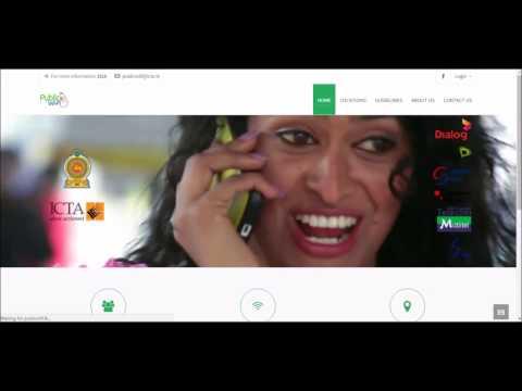 Public Wi-Fi Inititive Sri Lanka - Colombo Internet Speed Test