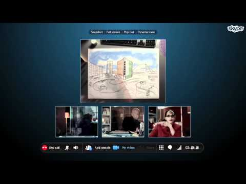 Group video calling for your business with Skype