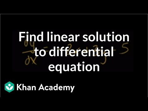 Finding particular linear solution to differential equation | Khan Academy