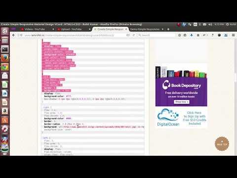 Create Simple Responsive Material Design VCard : HTML5+CSS3
