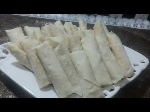 Homemade frozen spring rolls/ How to store frozen spring rolls - RAMADAN SPECIAL -