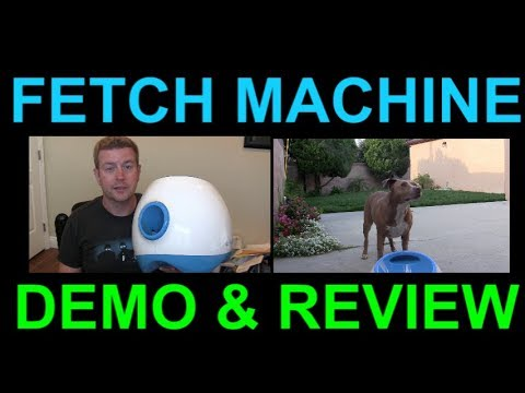 iFetch Automatic Dog Ball Fetch Machine Launcher Review and Demo