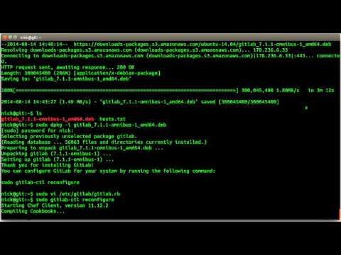 Install GitLab on Ubuntu Server 14.04 LTS