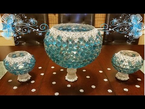Centerpiece ideas: DIY elegant 3 piece centerpiece
