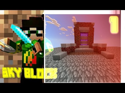 Build a nether portal and find 2 blocks glitchers | Minecraft PE SKYBLOCK #3 w/JavianGaming