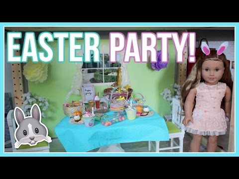DIY EASTER PARTY! American Girl Doll Easter Treats & Outfit Ideas 2017