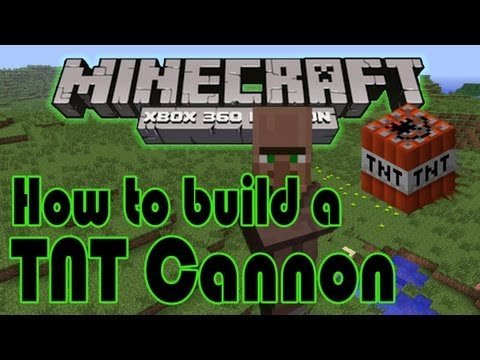 How to make a TNT cannon on minecraft (xbox 360 & PC edition) tutorial | HD