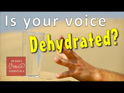 Hydration tips for Singers | Are YOU drinking enough WATER? | #DrDan