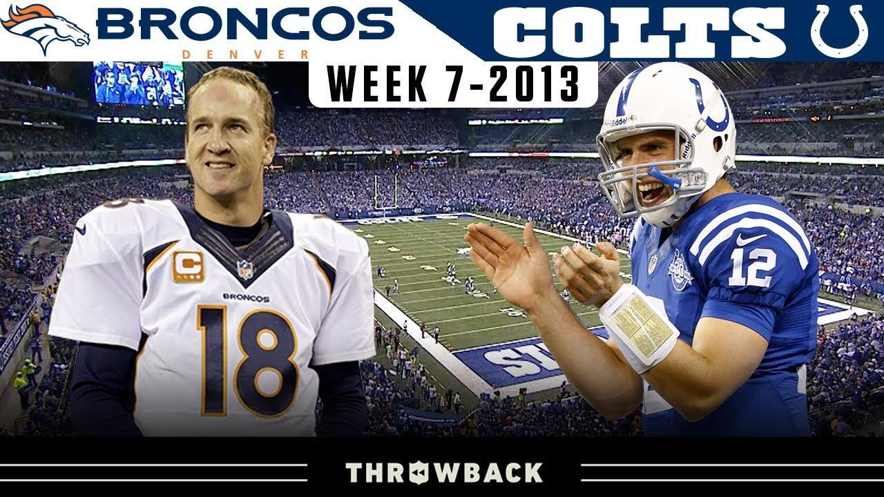 Peyton Manning's RETURN to Indy! (Broncos vs. Colts 2013, Week 7)
