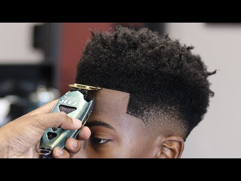 HAIRCUT TUTORIAL: LOW BALD FADE | CURLY FRO | ENHANCEMENTS INSPIRED BY: GET BEAMED
