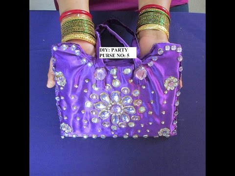 DIY: DESIGNER PURSE WITH RHINE STONES AND PEARLS. PURSE VIDEO SERIES NO: 5