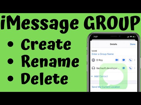 How to Create/Delete and Name a Group Messages on iPhone in iOS 12: iPhone XS Max/XR/iPhone X/8/7/6