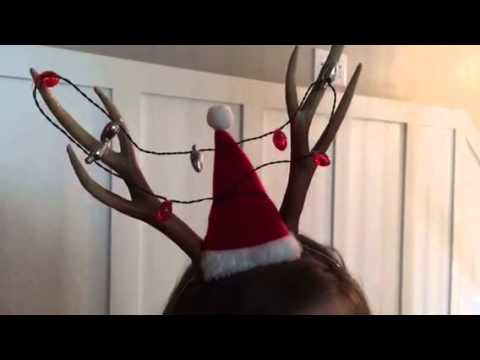 LED Light up Antler Headband