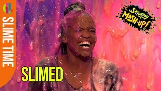 Strictly's Oti Mabuse gets slimed!