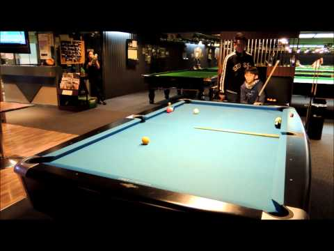 Jeremy Ho - Long shot with cue ball control training (Pool)