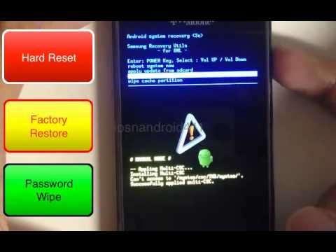 How to Hard Reset Factory Restore Password Wipe the Samsung Galaxy S Vibrant for T-mobile Tutorial
