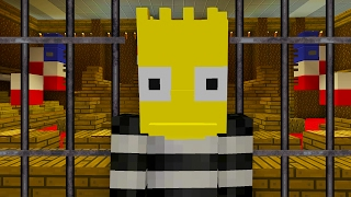 Bart Simpson Goes to Jail | The Simpsons | Minecraft Xbox [26]