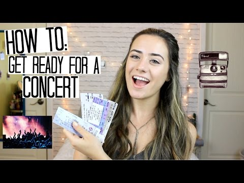 How To Get Ready For A Concert // ♡