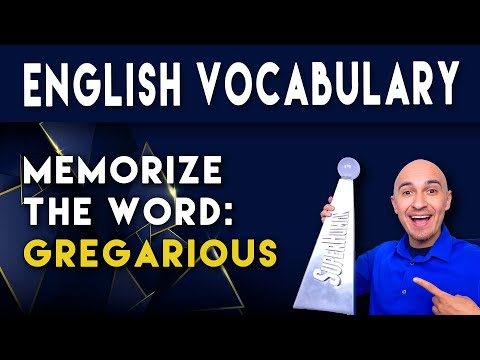 📖 How to Learn English Vocabulary Word - Gregarious | Memorize College Vocab | SAT Study Skills