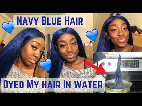 How I Dyed My Hair Blue In Water In Only 5 Mins ft YeahWigs.com