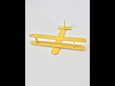 How to Make a Plane with Popsicle Sticks - Handmade - DIY Crafts - Art with Ice-Cream Sticks