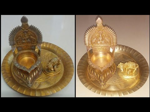 How to clean brass pooja vessels or pooja things or pooja items at home