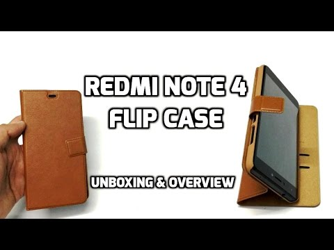Cassiey Redmi Note 4 Flip Cover | Brown | Unboxing & Review (INDIA)