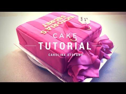 Victoria's Secret Bag Birthday Cake   Bolo de Aniversário Decorado Sacola Victoria's Secret