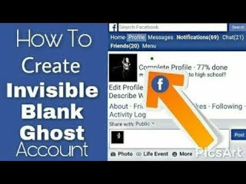 How To Make Invisible or Blank Name  Account On Facebook 2017