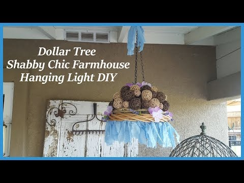 Dollar Tree Shabby Chic / Farmhouse Chandelier Hanging Light