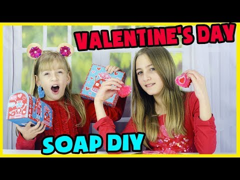 VALENTINE'S DAY SOAP DIY! MAKING VALENTINE'S DAY GIFTS.
