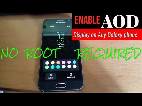 Enable AOD Display On Any Galaxy Device (NO ROOT REQUIRED)