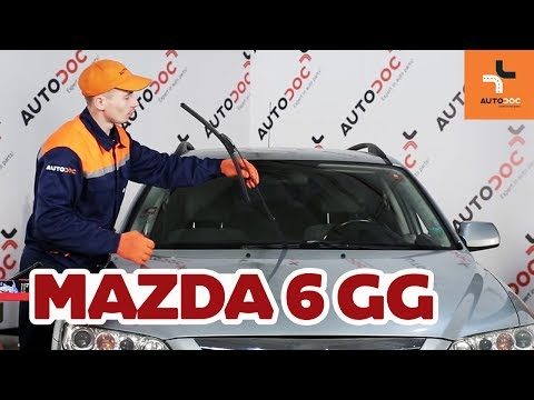 How to replace front wipers blades Mazda 6 GY TUTORIAL | AUTODOC