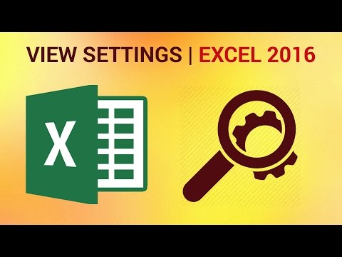 How to Save Your View Settings in Excel 2016 - Custom Views