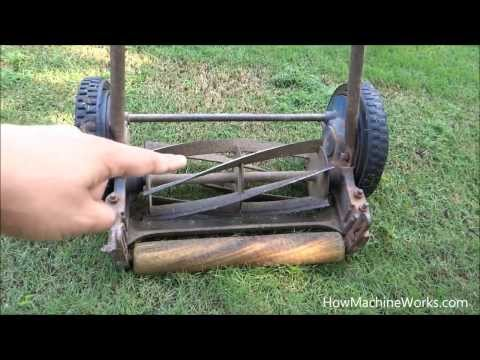 How a manual grass cutting machine works - Must watch
