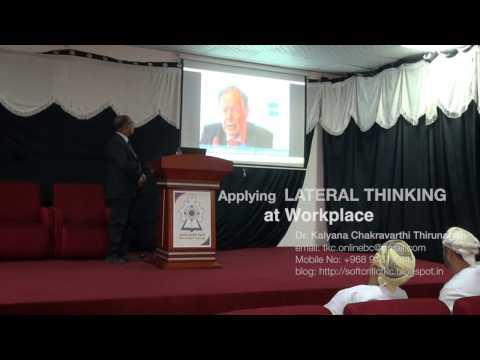 Applying Lateral Thinking Technique at Workplace