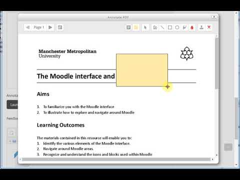 #414 Adding feedback to PDFs in Moodle Assignments