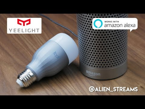 Yeelight Smart Bulb paired with Alexa / Unboxing & Review