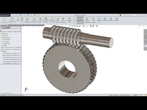 Solidworks tutorial | sketch Worm gear Animation in Solidworks