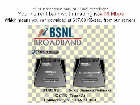 BSNL Broadband Speed -Live!