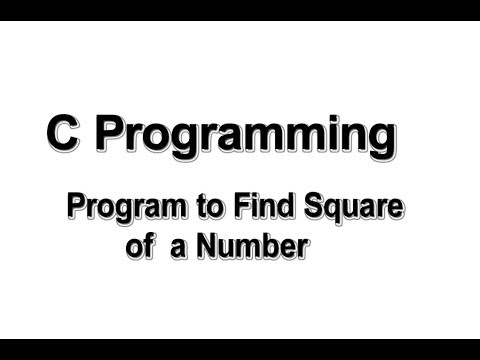 Program to find square of a number