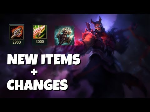 NEW ITEMS and Item CHANGES! Are they GOOD for Shen!? League of Legends
