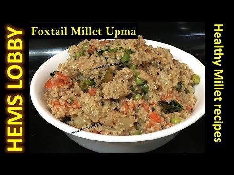 திணை உப்புமா - Foxtail Millet Upma - Healthy Breakfast  -Millet recipes in Tamil (Eng Subtitles)