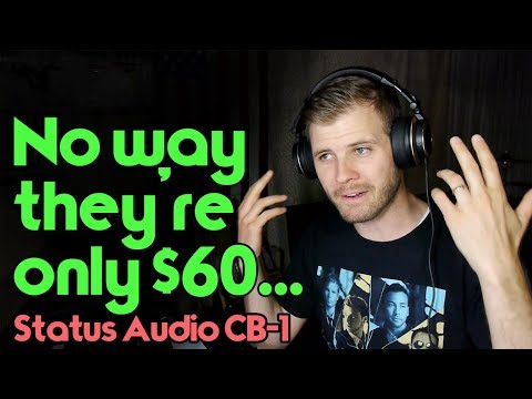 "Arguably Best ""Cheap"" Mixing Headphones - Status Audio CB-1 Revie"