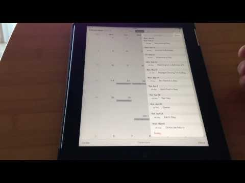 iOS 7 Calendar List View on iPhone and iPad