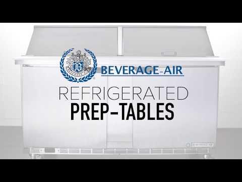 Beverage Air Refrigerated Prep Tables