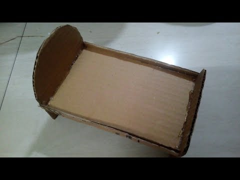 DIY: how to make doll bed using cardboard - for kids