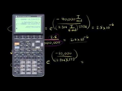 Arrhenius equation | Kinetics | Chemistry | Khan Academy
