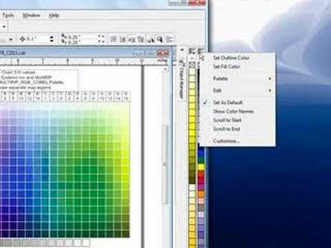 Using the MultiRIP RGB Color Chart & Swatches - CorelDraw