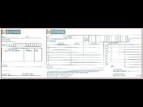 IN-How to fill IDBI Bank Deposit Slip